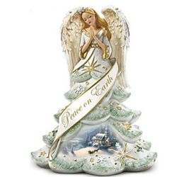 Jeweled Christmas Angel of Peace Figurine