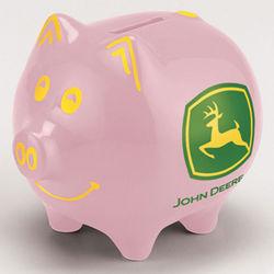 John Deere Pink Piggy Bank