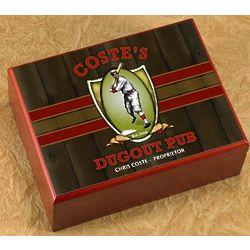 Personalized Dugout Pub Cigar Humidor