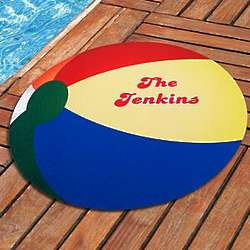 Personalized Beach Ball Round Doormat