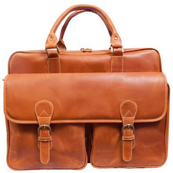 Distressed Tan Sedona Computer Briefcase