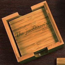 Bamboo Personalized Coasters