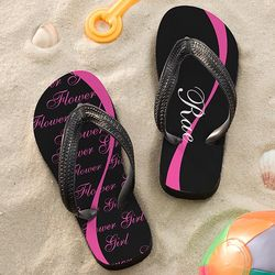 Flower Girl's Personalized Flip Flops
