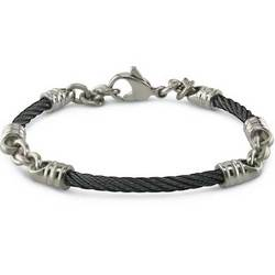"Black Titanium 3mm Cable ""Rosenberg"" Bracelet"