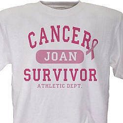 Cancer Survivor Athletic Dept. Personalized T-Shirt