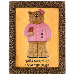 Personalized Businesswoman Bear Plaque