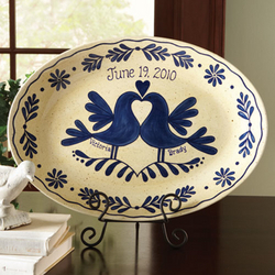 Personalized Lovebirds Platter