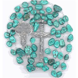 Our Lady of Guadalupe Turquoise Rosary