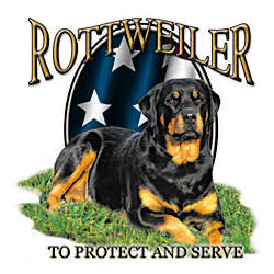 Rottweiler Protect and Serve T-Shirt