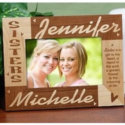 Personalized Sisters Wooden Picture Frame