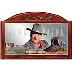 John Wayne Western Legend Saloon Mirror