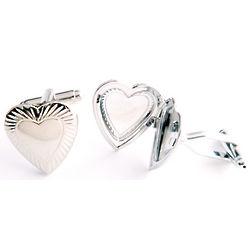 Dashing Heart Locket Cufflinks