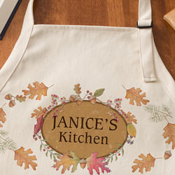 Autumn Leaves Personalized Apron