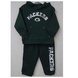 Toddler's Packers Pullover Hoodie and Pants