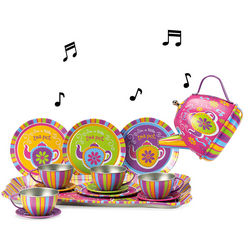 Children's Musical Tin Tea Set