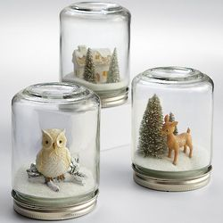 Winter Wonderland Snow Scene Jar