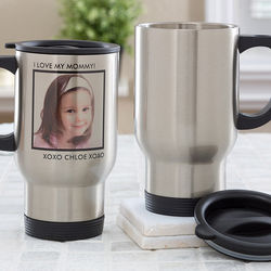 Picture Perfect Personalized 1 Photo Travel Mug