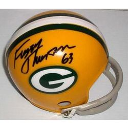 Green Bay Packers Fuzzy Thurston Autographed Mini Helmet