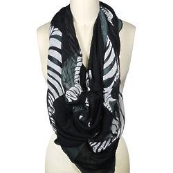 Large Cotton Zebra Pattern Scarf