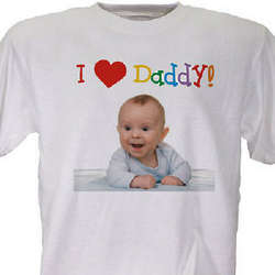 Personalized I Love Photo T-Shirt
