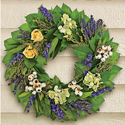 Herbs and Flowers Wreath