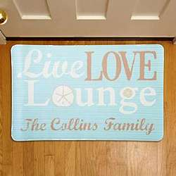 Personalized Live Love Lounge Doormat