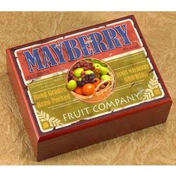 Fruit Company Personalized Humidor