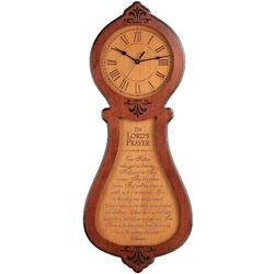The Lord's Prayer Wooden Clock