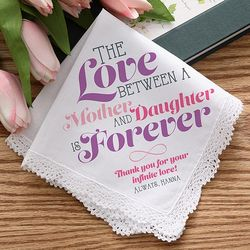 Love Is Forever Personalized Wedding Handkerchief