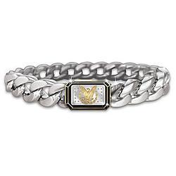 Morgan Silver Dollar Eagle Ingot Men's Bracelet