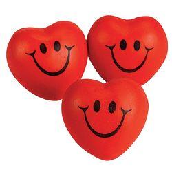 Smiley Face Heart-Shaped Stress Balls