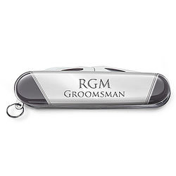 Stainless Steel Pocket Knife with Personalized Engraving