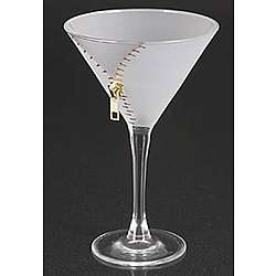 Silver Zipper Martini Glass