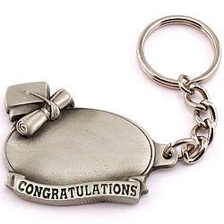 Congratulations Graduation Pewter Key Chain