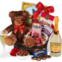 An Evening of Indulgence Valentine's Day Gift Basket