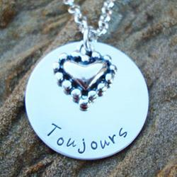 Toujours Hand Stamped Necklace