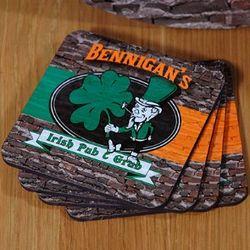 Personalized Irish Pub and Grub Coasters