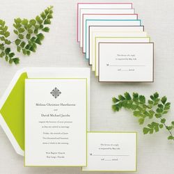 Simply Colorful Wedding Invitation Set