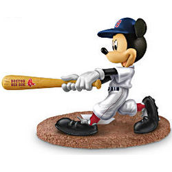 MLB Boston Red Sox Home Run Hero Mickey Mouse Figurine