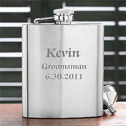 Personalized Wedding Party Stainless Steel Pocket Flask