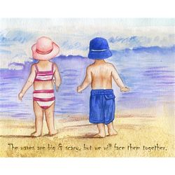 Beach Bums Personalized Art Print