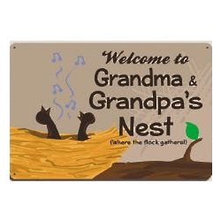 Personalized Welcome Metal Wall Sign
