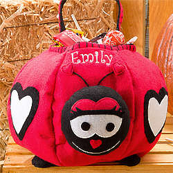 Personalized Ladybug Trick or Treat Bag