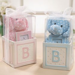 Newborn Baby Plush Toy and Picture Frame Gift Set