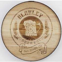 Personalized Craft Beer Barrel Sign