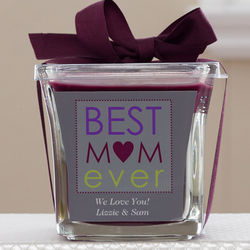Best Mom Ever Personalized Mulberry Candle