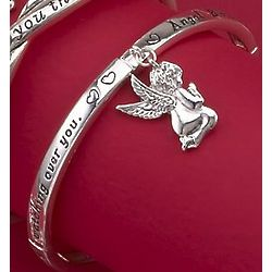 Inspirational Blessing Angel Charm Bracelet