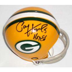 Green Bay Packers Paul Hornung Autographed Mini Helmet
