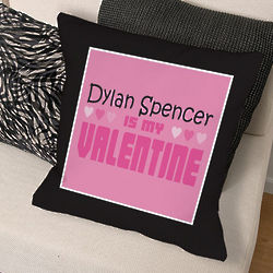 Personalized My Valentine Throw Pillow