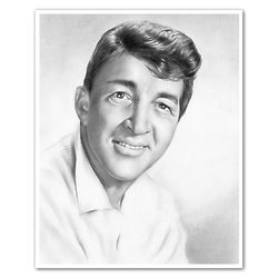 Dean Martin Pencil Sketch Art Print